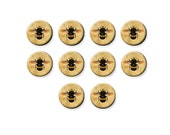 Round Glass Cabochon, Glass Dome, Vintage Honey Bee Insect, Flatback Cabochon, Earrings, 8mm 12mm 16mm 20mm, C1345