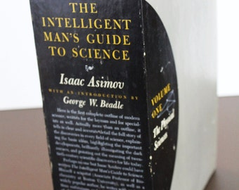 Vintage Science Books -1st Edition The Intelligent Man's Guide To Science: Volume I The Physical Sciences-Volume II The Biological Sciences