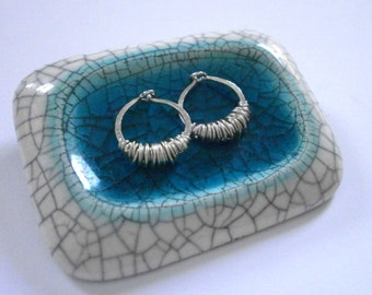 Tiny Sterling Silver Sleeper Hoops Tiny Sleeper Earrings Extra Small Silver Huggie Hoops Hammered Wire Jewelry Wire Wrapped Hoops