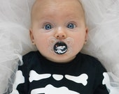 Zero - Nightmare Before Christmas Custom Hand Painted Pacifier by PiquantDesigns