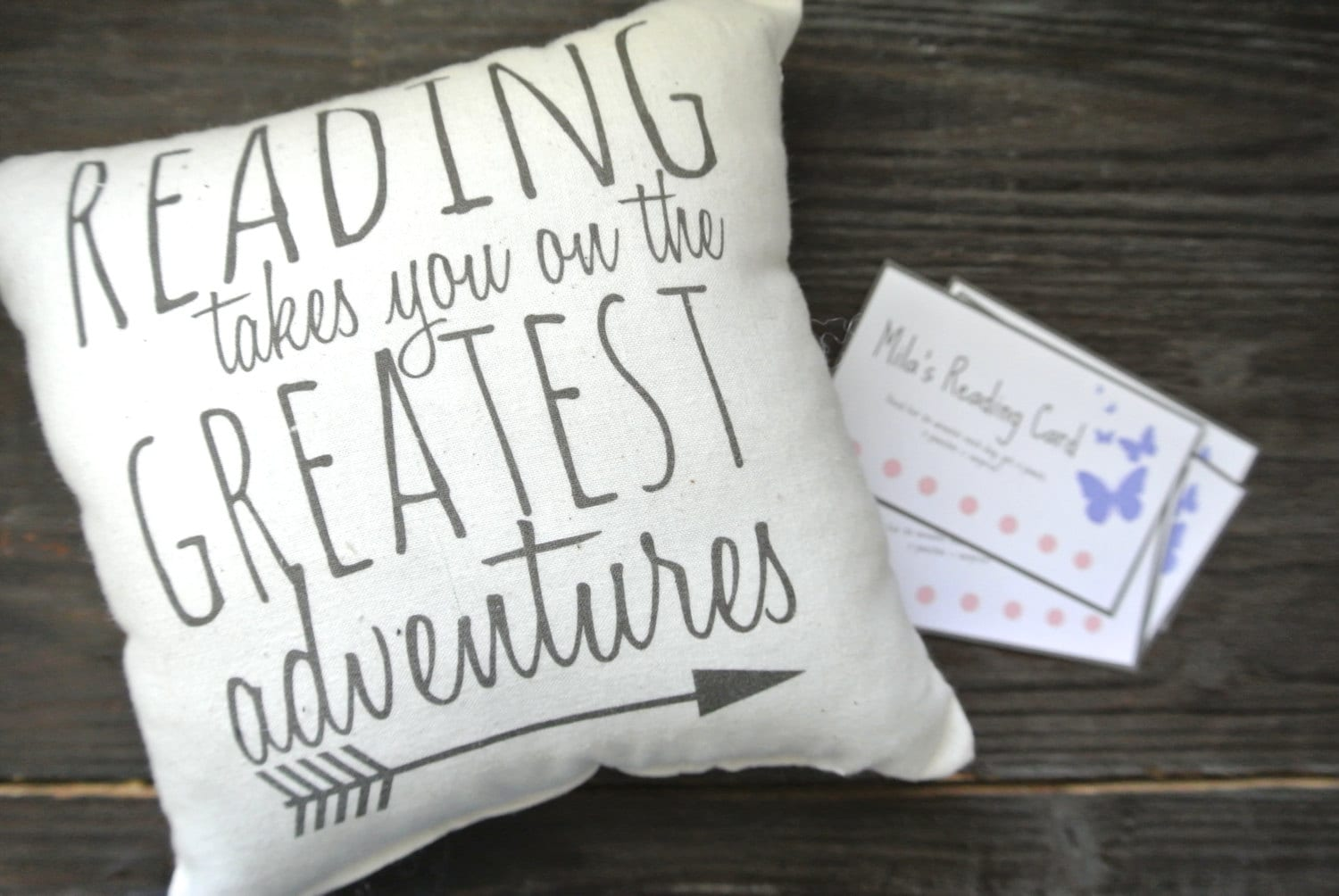 Reading Reward System, Reading Pillow, Reading Quote Pillow, Book Pillow,  Reading Reward