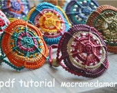 MULTICOLORED Macrame BRACELETS/ Macrame pdf tutorial