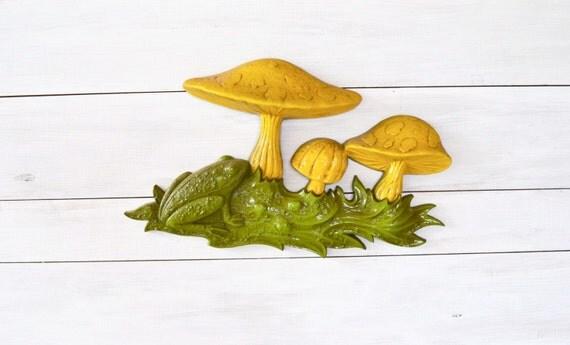 1970s Mushroom and Frog Wall Hanging