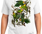 Carolina Parrots Retro Men & Ladies T-shirt - Gift for Bird Lovers and Ornithologist (idc026)