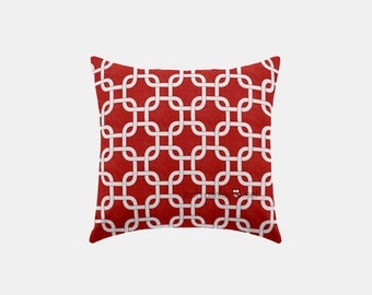 Square Pillow Cover - Red Square - S1