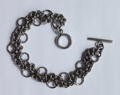 Bubbles Chainmail Bracelet, Stainless Steel Bracelet