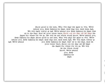 NC State Fight Song Print - North Carolina Typography Print - 8x10