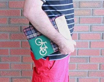 Ipad case, Ipad cover, Ipad sleeve, Padded case with pocket,Ipad 1, Ipad 2, Ipad 3,  Bicycle