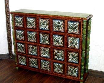 Apothecary Cabinet, Dollhouse Miniature 1/12 Scale, Hand Made