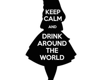 Drink Around the World- Tshirt design Alice