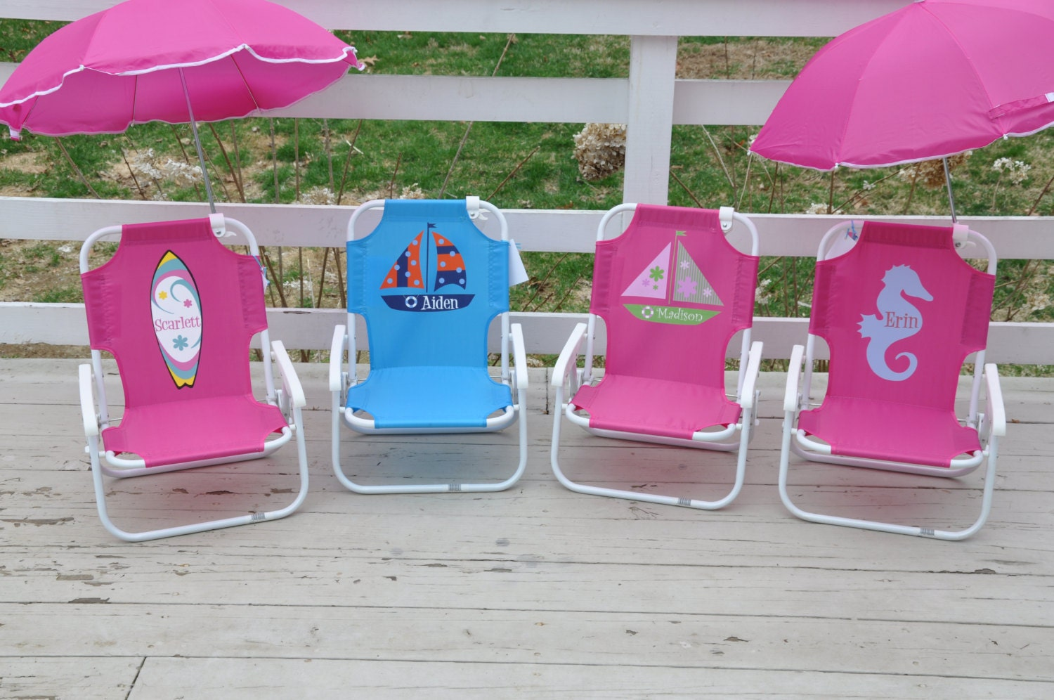 Personalized Beach Chairs personalized child's beach chair with umbrella