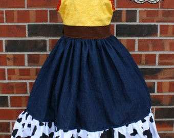Jessie from Toy Story inspired boutique dress sizes 6-8