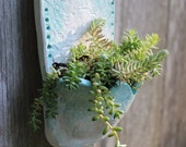 Lacey Teal Wall Planter