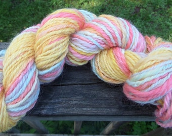 Handspun Yarn, Handpainted Yarn, 82 yds., 12wpi, Sport Weight