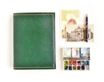 Custom Traveling Sketchbook | One-of-a-kind, Handbound, Mixed Paper Traveling Sketchbook