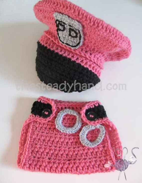 CROCHET PATTERN Newborn Police Hat & Diaper Cover by ...