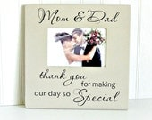 Parent Wedding Gift/Parent Thank You Photo Frame/Wedding Picture Frame Gift for Parents