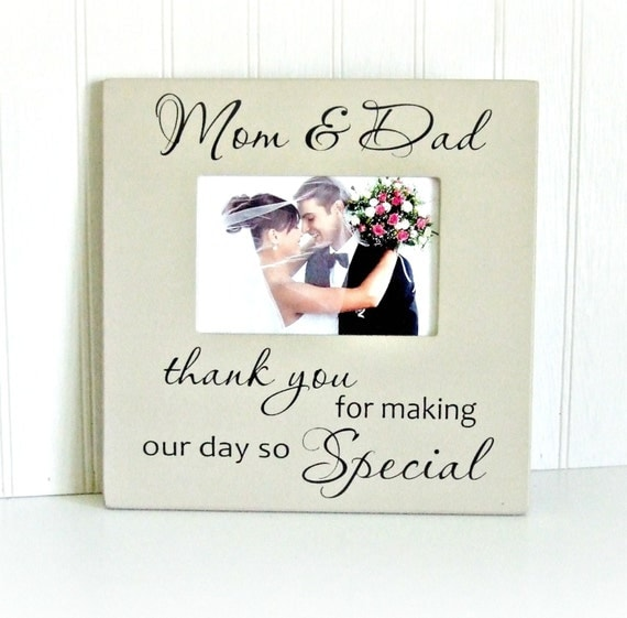 ... Wedding Picture FrameGift for ParentsThank You Parents Wedding