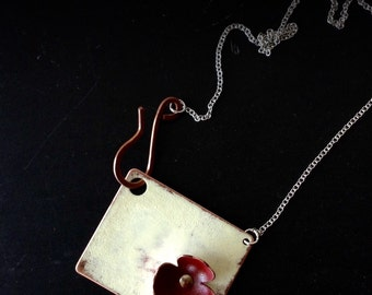 Distressed Mixed Metal Necklace