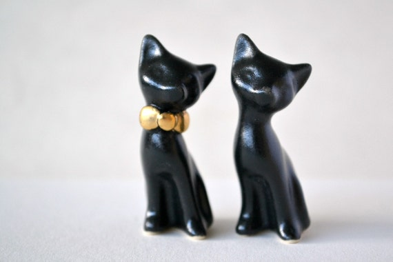black cat wedding cake toppers matte black cat cake topper wedding cake by 11859