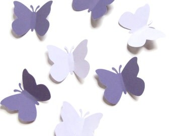 50 Large Butterflies in Purple and Orchid-Punch Die Cut- Embellishments-Scrapbooking-Weddings