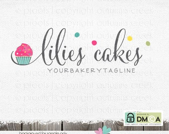 bakery logo cupcake logo premade logo cake decorator logo shop logo party logo premade logo design logo for bakers logos cake shop