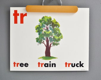 Mid-Century Flash Card Poster - TREE