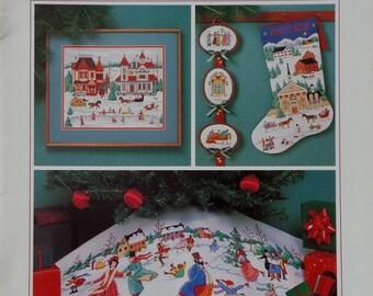 Rare Charles Wysocki WYSOCKI HOLIDAYS By Dimensions Christmas Stocking, Ornaments & Tree Skirt  - Counted Cross Stitch Pattern Chart