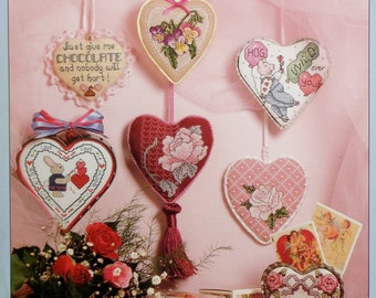 Better Homes and Gardens PRIZEWINNING HEARTS Prize Winning Stitch A Winner (Multiple Designs)  - Counted Cross Stitch Pattern Chart Booklet