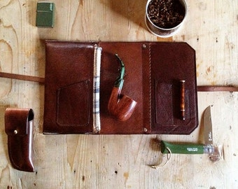 Signature Pipe & Tobacco Pouch * Made in USA * Sorringowl and Sons * Lined Tobacco Pouch