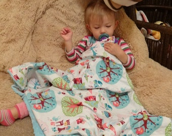 """Pixie Fairy & Woodland Creatures  Baby Blanket: """"Effervescent Eva"""""""