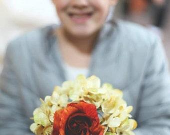 Custom Hydrangea Rose Bridesmaid Bouquet