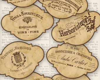Vintage Trade Typography Labels - printable - VDLAVI1047