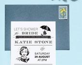 Let's Shower The Bride No. 1 Shower Invitation Printable Template