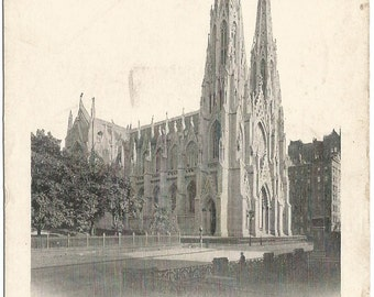 Saint Patrick's Cathedral New York UDBPC Undivided Back Postcard 1905 Vintage Postcard