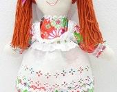 hand made rag doll cloth doll Christmas Toy dressable doll rag doll handmade doll homemade doll NF244