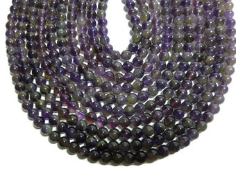 Natural Amethyst - 6mm Round - Full Strand - 64 beads