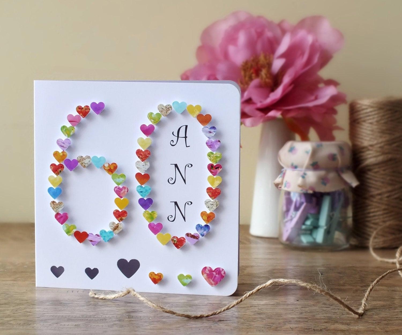 60th Birthday Card Age 60 Card 60 3D Birthday Card Sixty – Personalised 60th Birthday Cards Husband