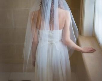 Fingertip Length Wedding Veil Handmade Wedding Veil