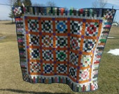 Bright Easter Egg handmade quilt