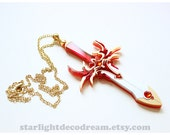 MADE to ORDER Hikaru's Escudo Blade Necklace Inspired Fanart Magic Knight Rayearth Sword for Magical Girl Mahou Kei Kawaii