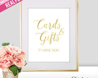 Cards and Gifts Wedding Sign - Gold Cards and Gifts Sign - Cards Gifts Wedding Sign - Cards Wedding Sign - Gold Wedding Decor (FS2)