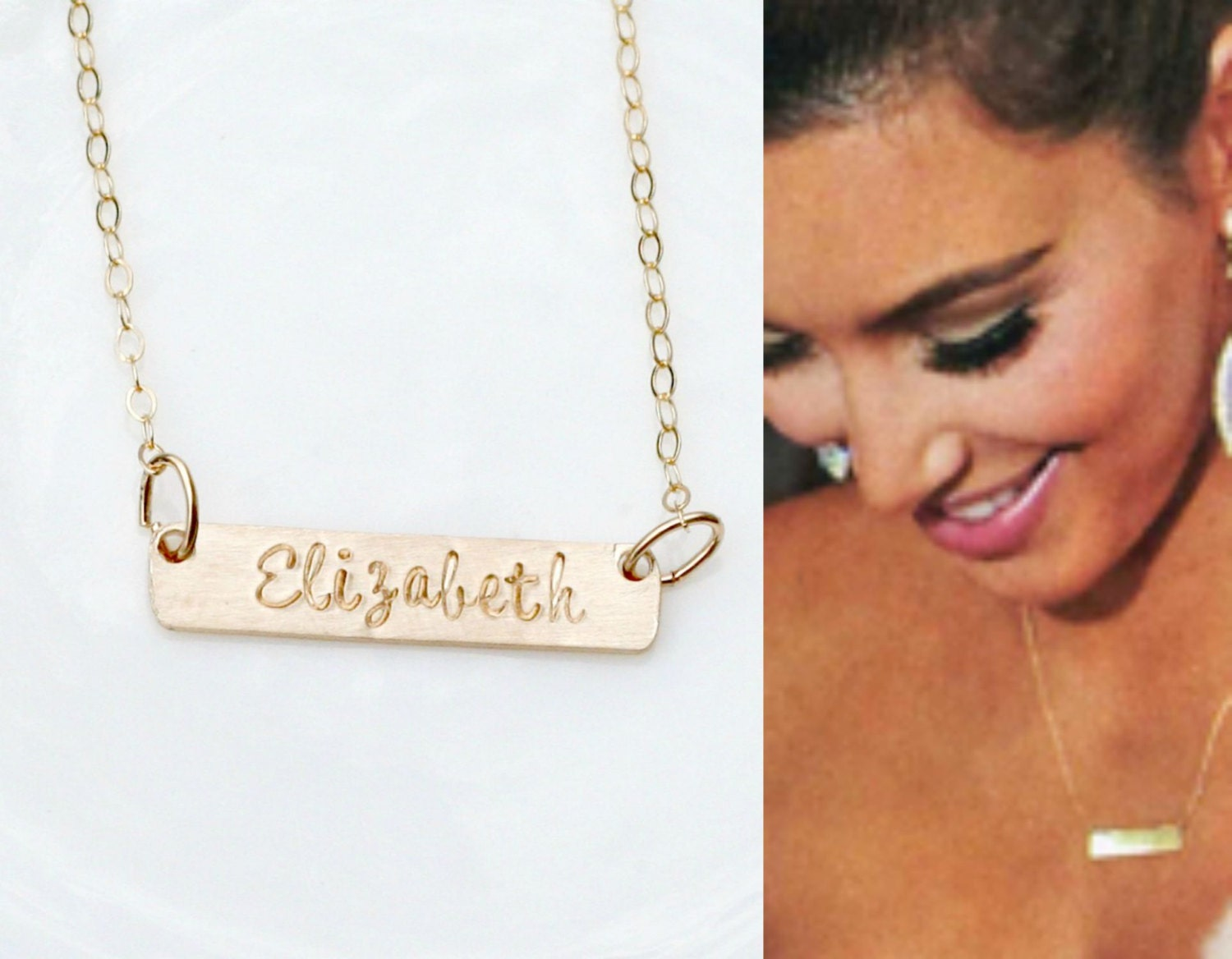 Personalized Name Necklace | Name Bar Necklace