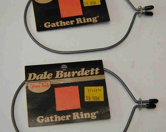 "Clearance Sale + Free Shipping: Two (2) Dale Burdett METAL GATHER RINGS from ""Yours Truly"" dated 1986 - With Original Tags - Was 6.50"