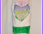 Baby Girl Diaper Cake John Deere Theme-STUNNING Shower Gift Idea