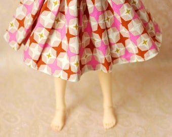 Delf/Feeple60 Pink And Brown 50s Star Skirt For SD BJD - One Only