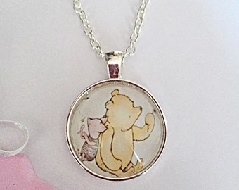 Winnie The Pooh Necklace, Classic Winnie Necklace, Pooh Bear Pendant, Winnie The Pooh Jewellery, Bear Necklace, Gift For Her, Birthday Gift