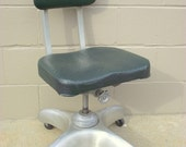 Mid Century Industrial Propeller Base Chair - Machine Age Steampunk Office - Art Metal Construction Co 1950s - ALUMINUM Frame & Base