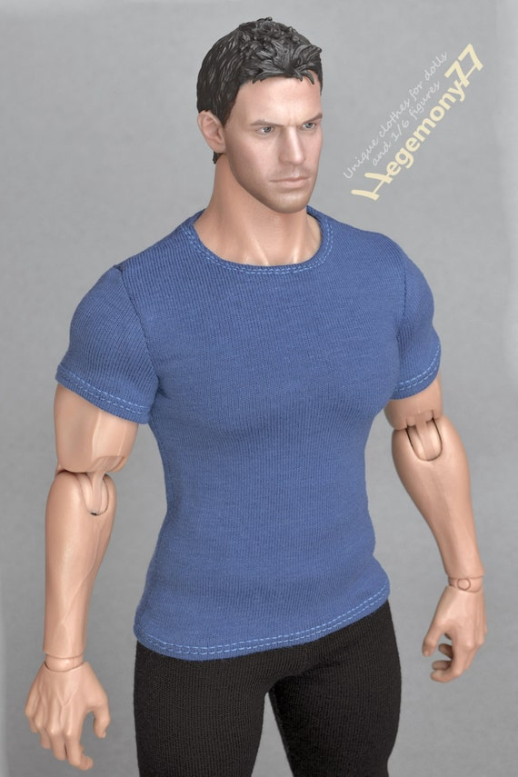 1/6th scale XXL T-shirt for: Hot Toys TTM 20 size bigger / larger action figures and male fashion dolls