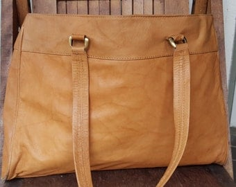 GOLDIE   ///   Large Golden Leather Tote